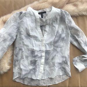 BCBGMAXAZRIA white and gray tunic size small